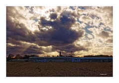 NOVEMBERSTURM (Babaou) Tags: deutschland germany niederrhein nrw kevelaer twisteden sturm november gewächshaus kirchturm silhouette wolken dxo quirinus