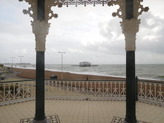 The West Pier viewed from the Bandstand, Brighton, 17th November 2016. (HooBoy2000) Tags: brighton bandstand sea pier
