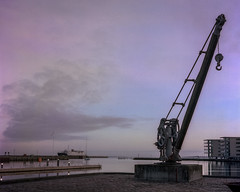 Skumring, Nyborg Havn (mgfoto2011) Tags: rolleiflex zeisstessar75mmf35 film portra160 c41 minoltascanmultipro nyborg