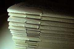 Tinny stitches (Alfredo Liverani) Tags: macromondays stitch canong5x canon g5x macro paper weeklymagazine magazine weekly lasettimanaenigmistica settimana enigmistica minimalism abstract texture blackbackground minimalismo astratto sfondonero trama stitches