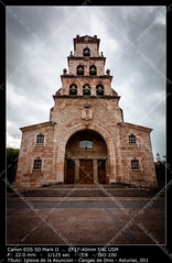 Church of the Assumption (__Viledevil__) Tags: catholic spain antique architecture assumption asturian asturias bells cangas cape church cidra cidre conmemorative gothic historic landmark medieval onis ornamental pelayo six stone street tower town vertical village