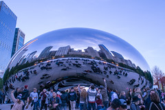 Cloud Gate Reflection II (sjshoreman) Tags: chicago illinois cloudgate bean reflection millenniumpark