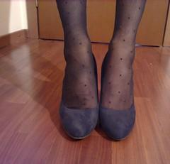 Swiss Dot Pantyhose (Julia Cool) Tags: pantyhose tights hosiery stockings nylon transgender tgirl heels julia cool collant calze strumpfhosen sissy trap transvestite amateur transgenderpantyhose juliacool highheels