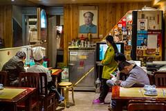 dining with the chairman (Rob-Shanghai) Tags: mao chairman shanghai food eatery leica m240 50mm