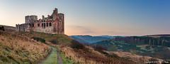 Chrichton Castle Panorama (roseysnapper) Tags: 14thcentury chrichtoncastle nikkor2470f28 nikond810 rivertyne hilltop edinburgh midlothian panorama scotland castle fortification ruins sunrise winter