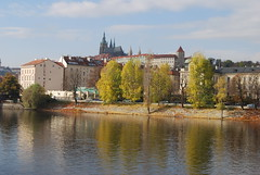 Autumn in Prague (Halliwell_Michael ## Thanks you for your visits #) Tags: prague2016 autumn 2016 nikond40x prague czechrepublic rivervltava autumncolour praguecastle stvituscathedral reflection reflections trees water landscape architecture skyline reflectionslovers city europe