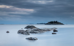 Shades of the Winter (Mika Laitinen) Tags: balticsea europe finland helsinki leefilters scandinavia uutela vuosaari beach blue calm cliff cloud color landscape longexposure nature ocean outdoor rock sea seascape serene shore sky sunset water helsingfors uusimaa fi