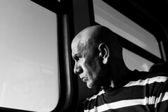 (Emre Ç.) Tags: street old sun man subway beard serious bald documantary