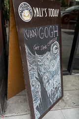 Day 236: (van) Gogh get some coffee (quinn.anya) Tags: coffee sign chalk chalkboard vangogh starrynight day236 yalis 525600minutes