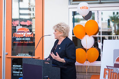 20151008-FlippinGood-02 (clvpio) Tags: vegas october downtown mayor lasvegas good burger event opening flipping goodman 2015