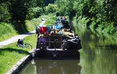 Kennet and Avon Canal - Somerset (Mark Wordy) Tags: houseboat somerset longboat narrowboat ka towpath kennetandavoncanal