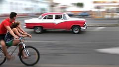 CUBA Cienfuegos La Gente I (stega60) Tags: street red car bicycle cuba bicicleta coche oldcar cienfuegos joven roja lagente stega60