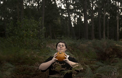 Samhain III (Vanessa RG (Vanessa Valkyria)) Tags: wood forest pumpkin witch samhain bosque calabaza witchcraft broom witchy pagan pagano bruja escoba