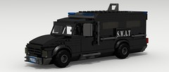 SWAT Van (Tom.Netherton1) Tags: city classic cars car digital vintage team lego pov designer duty police special legos download vehicle van heavy armored tactics officer swat weapons dropbox povray officers criminals ldd lxf legocity legodigitaldesigner