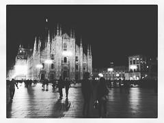 IMG_9239 (Bruno Meyer Photography) Tags: blackandwhite church night photography italia shadows milano piazza duomo edit instagram