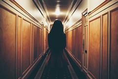 Natural Disaster (Louis Dazy) Tags: film silhouette analog 35mm photography back kodak symmetry hallway 100 pushed couloir ektar