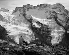 Le penseur des cimes (Tonton Dave) Tags: mountain alps monochrome montagne alpes landscape switzerland suisse gornergrat zermatt paysage penseur breithorn