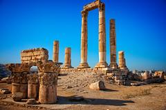 Temple of Hercules at Amman Citadel, Amman, Jordan (CamelKW) Tags: greek ruins amman jordan romanruins ammancitadel templeofhercules jordan2015