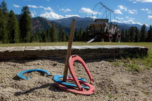 Triple Creek Ranch HORSE SHOE PIT