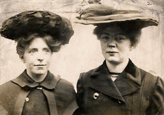 Annie Kenney and Christabel Pankhurst, c.1905-1912.