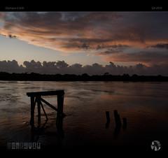 Cloud Horizon (tomraven) Tags: sky cloud sun water clouds reflections shadows dusk horizon silhouettes olympus buller e500 bullerriver cloudhorizon tomraven aravenimage q42015