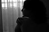 (Irene Aguilar Diéguez.) Tags: blackandwhite woman black art blancoynegro girl contraluz naked photography back mujer waiting chica arte artistic sensual espalda fotografia backlighting