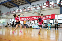 7thMoxaBadmintonIndustrialCup239 (Josh Pao) Tags: badminton 師大附中 羽球 大安站 moxa 第七屆 邀請賽 艾訊 四零四 axiomtek 工業盃 工業電腦盃