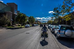 Cycling the streets of Denver, CO.