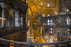 Hagia Sophia, Istanbul (Hans van der Boom) Tags: vacation people holiday church museum turkey europe basilica istanbul mosque sophia tr balkan 2015 agia aghia ayasophya herowinner
