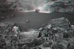 Minyon Falls, Australia (DDDavid Hazan) Tags: minyonfalls australia newsouthwales waterfall hiking travel nature anaglyph 3d bw blackandwhite bwanaglyph 3danglyph 3dstereophotography redcyan redcyan3d stereophotography stereo3d