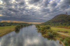 View from a bridge (blavandmaster) Tags: deutschland himmel clouds ciel duitsland countryside 2016 landschaft minden nrw wolken badoeynhausen handheld 24105 photomatix christiankortum flus canon landscape tyskland wasser water happy processing portawestfalica allemagne september hdr germany kaiserwilhelmdenkmal lovely interesting harmonic beautiful awesome light herbst complete ostwestfalen autumn else eos6d perfect werre weser nuages westfalen monument eau