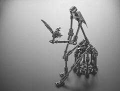 Gray Nine (Milan Sekiz) Tags: lego black white gray bird cage stickman