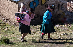 Altiplano Women (kate willmer) Tags: people hat clothes women child house altiplano peru