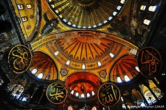 Inside of Wonder Hagia Sophia (NATIONAL SUGRAPHIC) Tags: sultanahmet fatih newturkei turkei nationalsugraphic sugraphic mosques camiler ottomanmosques ottomanhistory istanbul ayasofya cityscape cityscapephotography cityscapes sultanahmetsquare historicalplaces sultanahmetcami sultanahmetmosque bluemosque hagiasophia hagiasophiamosque ayasofyacami calligraphy ebru