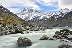 Hooker Valley - Mount Cook (Tdyy) Tags: newzealand nz nikon d7200 darktable grand mountain river longexposure canterbury hiking rocks water nd filter outdoor landscapes nature nikkor 18140