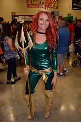 DSC_0037 (Randsom) Tags: alamocitycomiccon sanantonio texas october 2016 cosplay costume halloween fun colorful convention comicbook mera justiceleague spandex trident superheroine heroine sexy smile beautiful lovely woman girl female