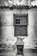 Paredes que hablan (Art.Mary) Tags: bn bw nb monochrome monocromo calahorra granada andaluca espaa spain canon espagne ventanas windows fentres casa house maison arquitecture architecture textures texturas rural guadix