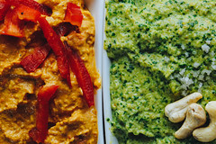 _B8A3717 (Chantelle D'mello) Tags: forward forty food hummus green dip sauces spread vegan vegetarian dairyfree red brown blue pepper spinach hazelnut cashew nut almond foodie blogger tasty delicious