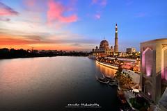 Putrajaya Lakeside (azrudin) Tags: mosque masjid putrajaya sunset cityscape city architecture islam bluehour bluesky boats azrudinphotography