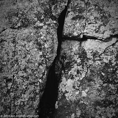 Fissure (aus.photo) Tags: ausphoto australia australiancapitalterritory act canberra cbr blackmountain blackmountainnaturereserve naturereserve reserve rock stone fissure fissured crack cracked bw blackandwhite blackwhite monochrome vignette outdoors outside
