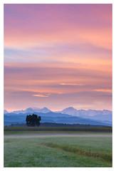 Shades of Blue (pascal_kipf) Tags: dawn morning dmmerung sonnenaufgang berge blau blue fog nebel feld field sky himmel wolken clouds tamron 17 50 canon 7d mkii mark ii morgen morgenstunde hour dew tau