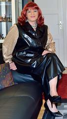 Birgit023126 (Birgit Bach) Tags: skirt rock waistcoat weste fauxleather kunstleder blouse bluse
