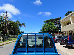 Sunny with a chance of rain. (Benji_1) Tags: none pohnpei kolonia town 7 star hotel choose adventure sky bluetruck vehicle sunny