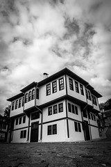 Townhouse (mutevelli) Tags: townhouse old street black white cloud stone sidewalk sony a6000 architecture