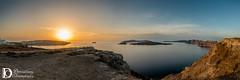 Caldera Panorama (Dimosthenis Christopoulos) Tags: landscape seascape outdoor hill caldera santorini fira firostefani oia sky sea blue clouds rocks amazing view orange sun sunset nikon volcano