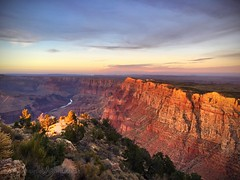 Grand Canyon, Desert View Watchtower at sunset. (djorgi) Tags: color river iphone hiking nature landscape sunset watchtower desertview grandcanyon