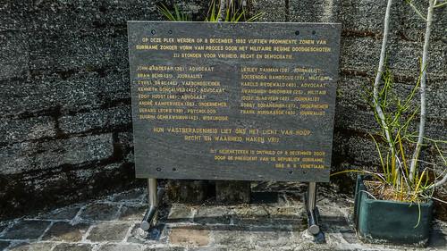 December murders memorial sign