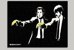 """"""" Pulp Fiction """" 2004 by Banksy  / POPular ART / Street Art / Graffiti (lalek72.popart) Tags: banksyart banksy fineart graffiti popart popartculture subculture art pulpfiction artprint"""