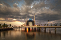 Floating Mosque (Martin Yon) Tags: martinyon indonesia makassar architecture mosque floating sunset