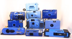 Camerhapsody in blue (Still Cameras) Tags: camera collection blue bluecameras